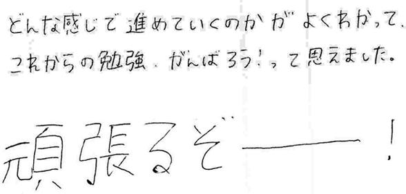 Yちゃん(中3)(八幡市)からの口コミ
