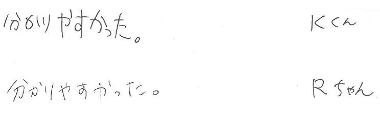 K君・Rちゃん(塩尻市)からの口コミ