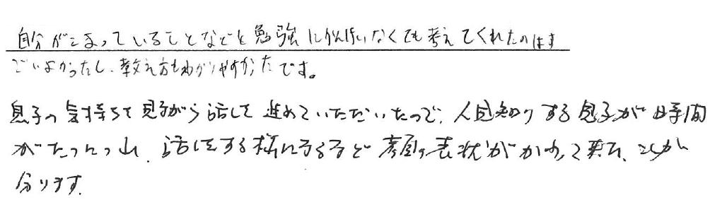 Y君(土岐市)からの口コミ