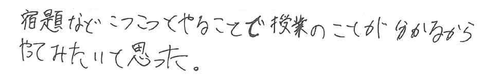 H君(美作市)からの口コミ