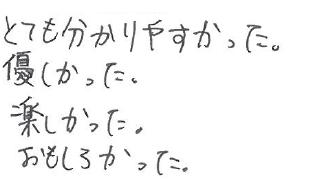 Y君(四万十市)からの口コミ