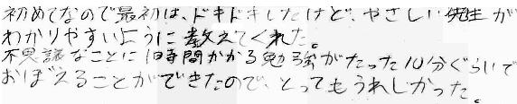 Y君(大野市)からの口コミ