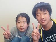 そうた君(中1)・みくちゃん(小5)(苫田郡鏡野町)