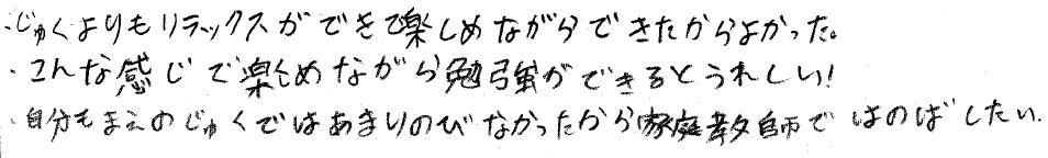 カツヤ君(別府市)からの口コミ