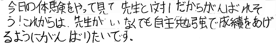 ことみちゃん(中1)(三原市)からの口コミ