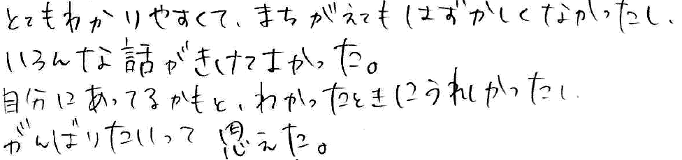 Mちゃん(岩倉市)からの口コミ