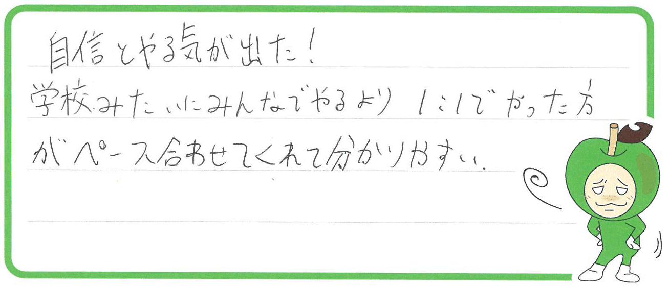 G君(河内長野市)からの口コミ