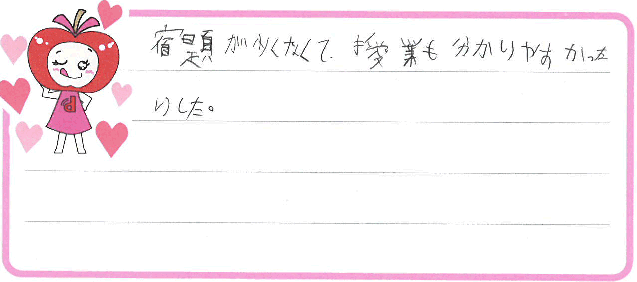 H君(西尾市)からの口コミ