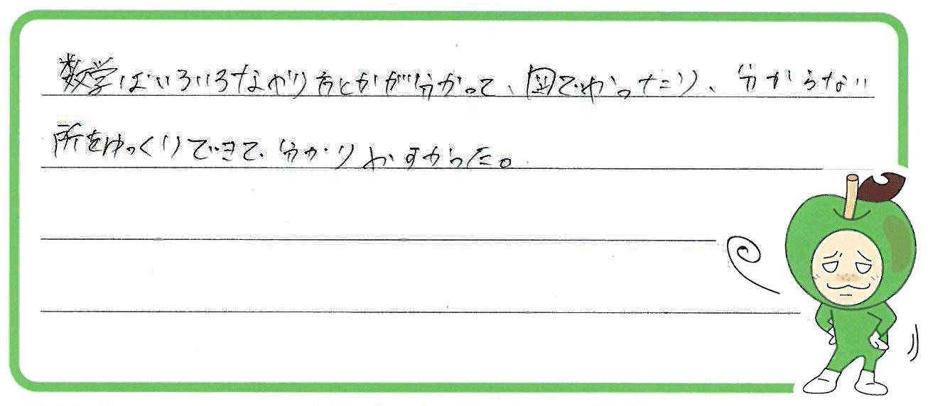 Y君(可児市)からの口コミ