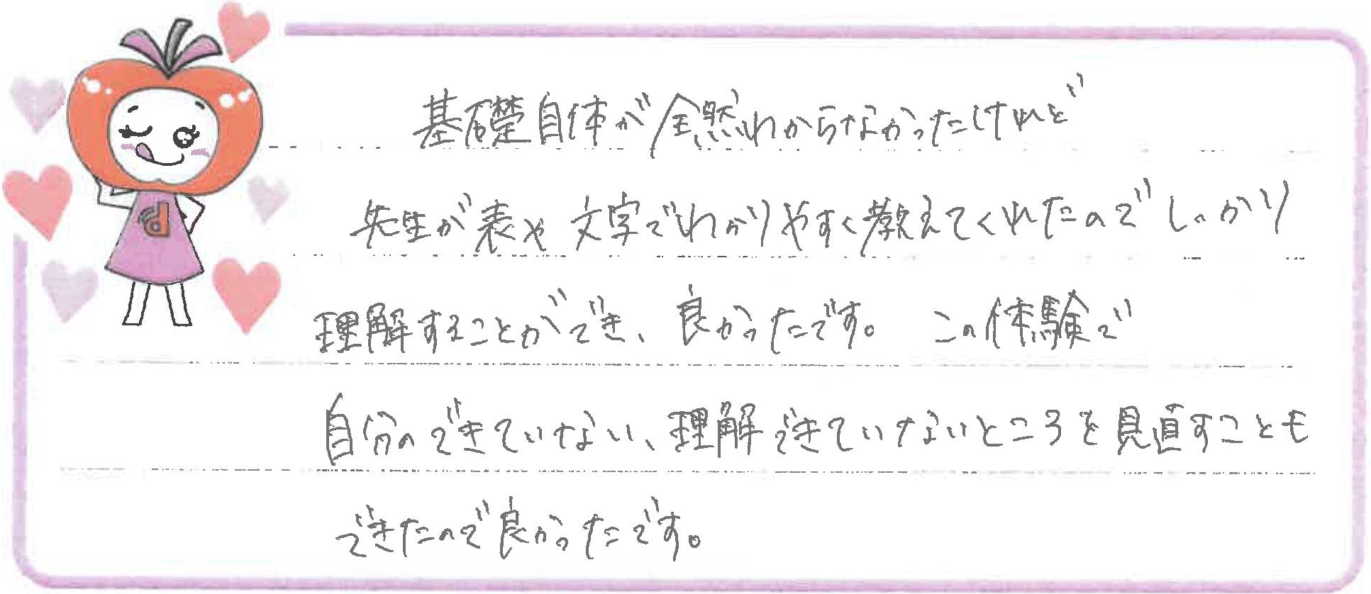 M.Hちゃん(飯田市)からの口コミ