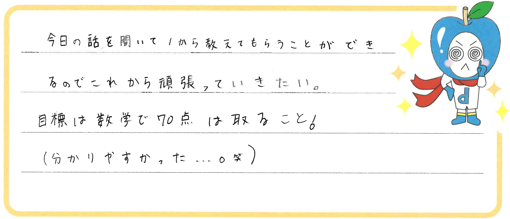 ななみちゃん(備前市)からの口コミ