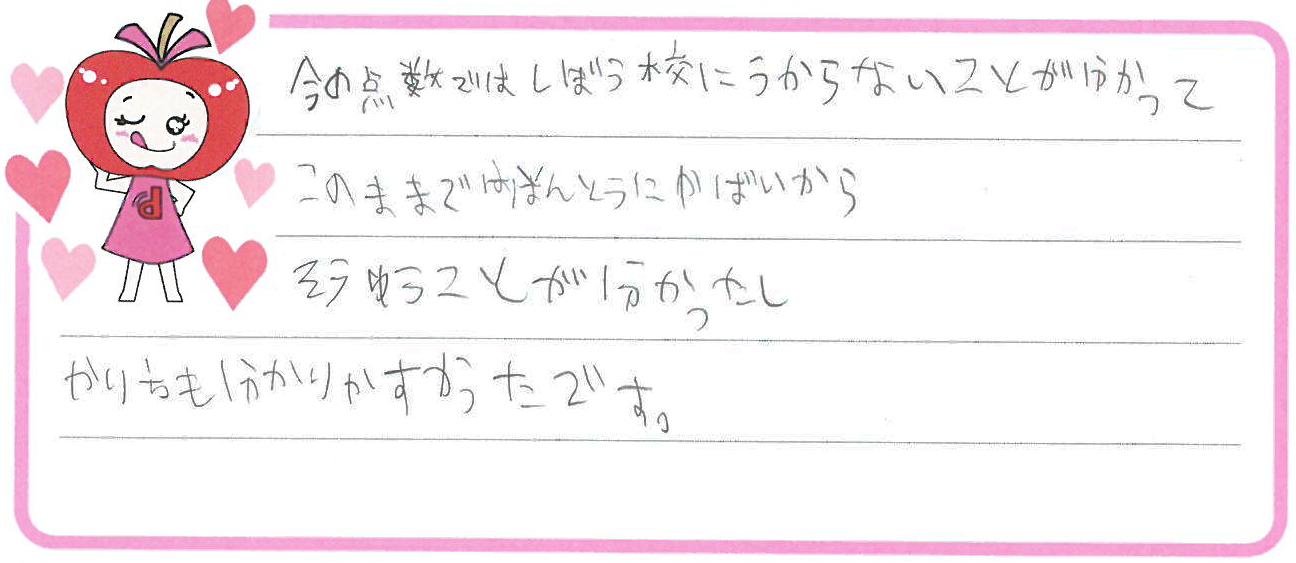 K君(刈谷市)からの口コミ