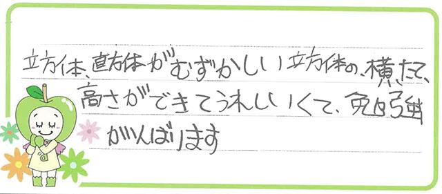 K君(稲沢市)からの口コミ