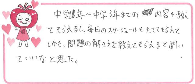 M君(草津市)からの口コミ