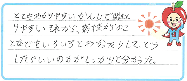 F君(新居浜市)からの口コミ