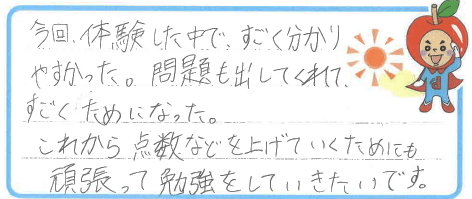 J君(福井市)からの口コミ
