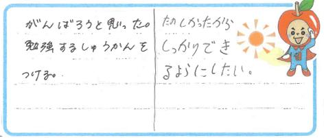 Y君・H君(氷見市)からの口コミ