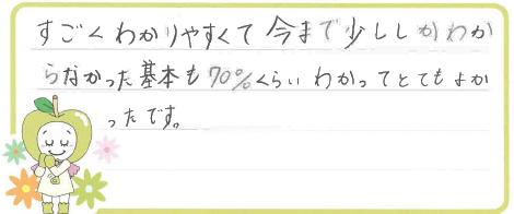 K君(福井市)からの口コミ