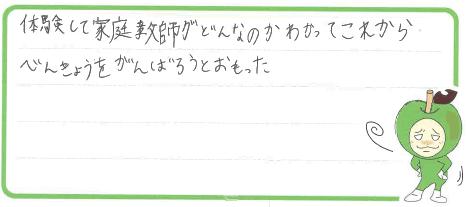 K君(徳島市)からの口コミ