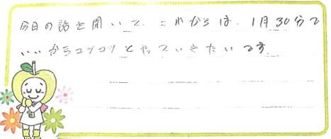 K君(大阪市生野区)からの口コミ