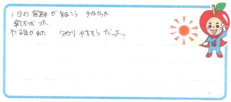 D君(鳥取市)からの口コミ