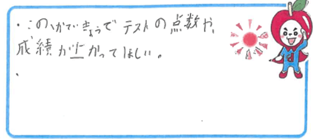 K君(藤井寺市)からの口コミ