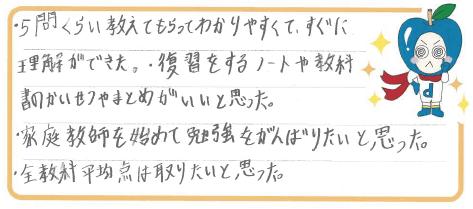 H君(岡山市)からの口コミ