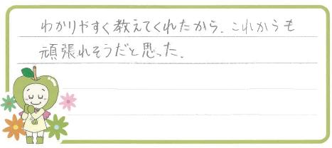 R君(浜松市)からの口コミ