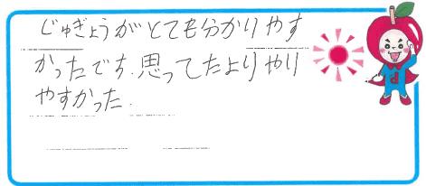 R君(大阪市福島区)からの口コミ
