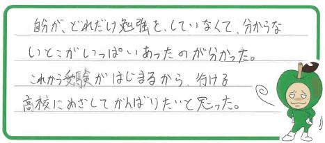 H君(春日井市)からの口コミ