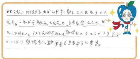 S君(岡崎市)からの口コミ